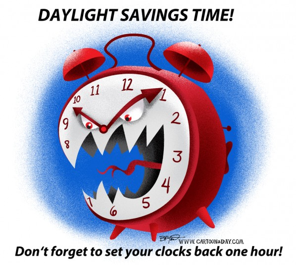 Don't forget! Turn yer clocks back tonight