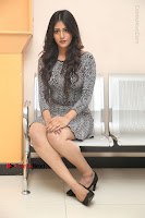 Actress Chandini Chowdary Pos in Short Dress at Howrah Bridge Movie Press Meet  0167.JPG