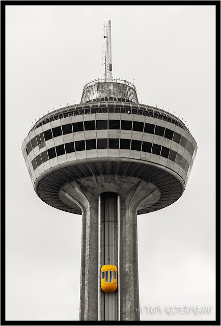 Yellow Elevator - Skylon Tower - Niagara Falls