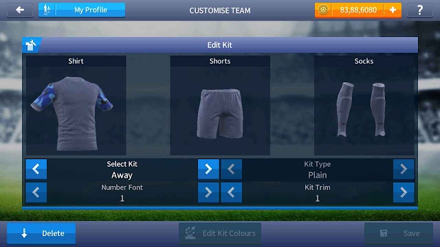 kit tentara dream league soccer warna biru