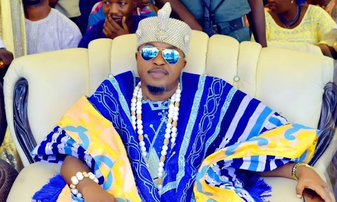 Nigerian Monarch, King Of Iwo, Shares New Photo With His Wife From Their Vacation (Photo)