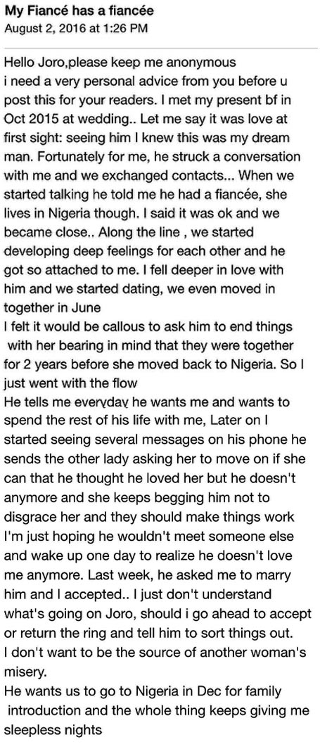 """My boo has another boo but he wants to marry me"" - woman asks for advice"