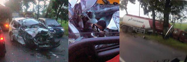 Terios vs Truk Tangki Pertamina, Satu Orang Meninggal di TKP