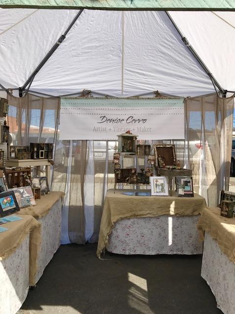 Inside Denise Cerro's market booth