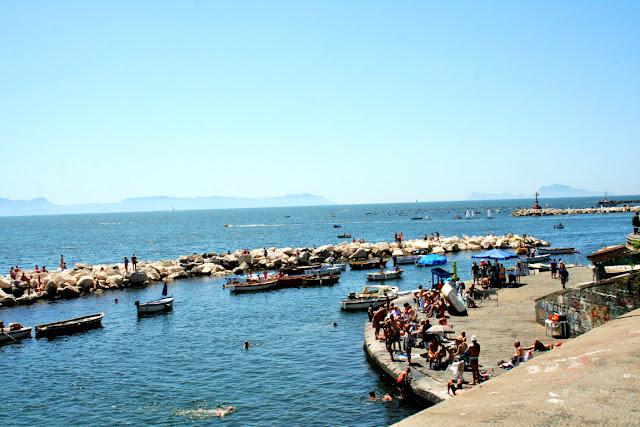 mare, acqua, sole, vacanze, porto, molo, bagnanti, barche,