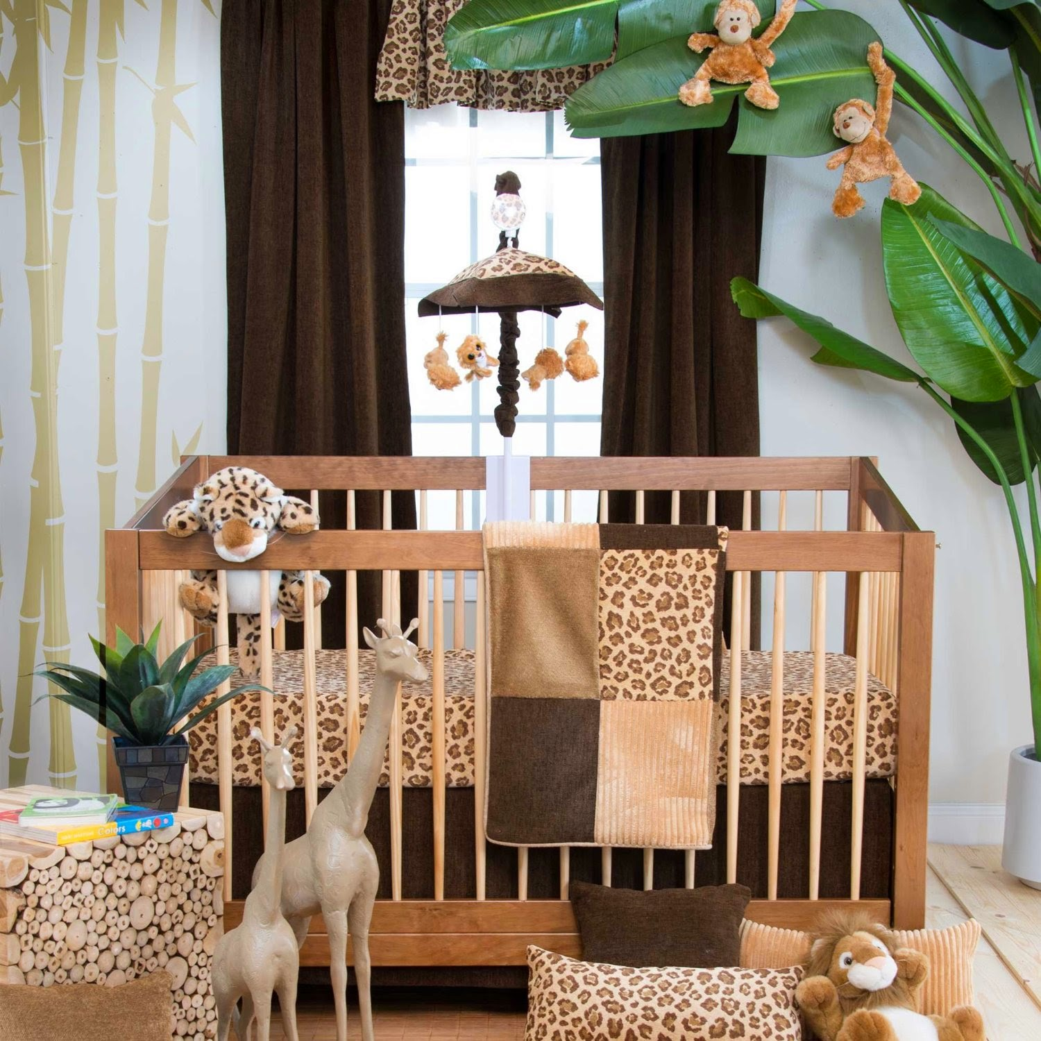 Animal Leopard And Cheetah Print Jungle Baby Nursery
