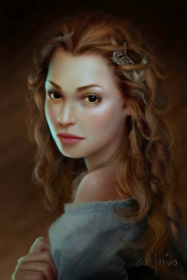 Wonderful Digital Portrait Paintings by Sue Marino
