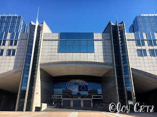 Extérieur du parlement européen, Bruxelles