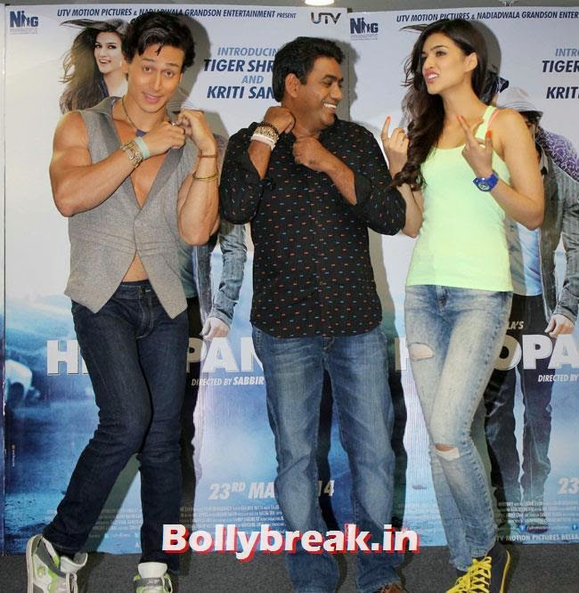 Kriti Sanon and Tiger Shroff, Kriti Sanon sizzles in Green Tank Top at Promotion of Film Heropanti