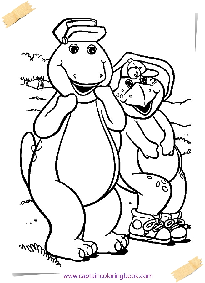 Barney Coloring Pages coloring page printable - Coloring Page