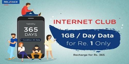 One year validity pack 1GB per day for 365 days