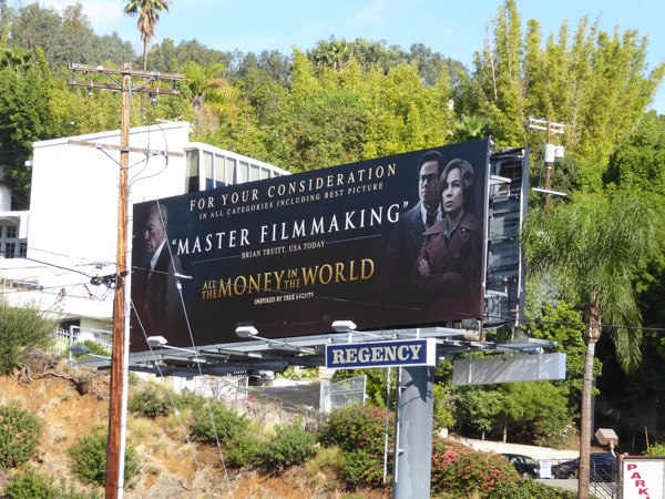 All Money in World Oscar consideration billboard