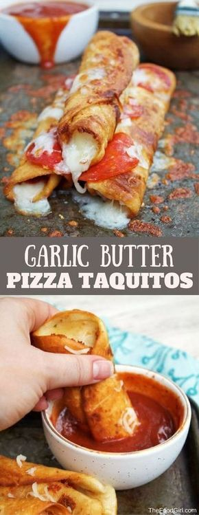 GARLIC BUTTER PIZZA TAQUITOS