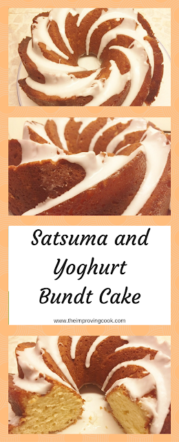 Satsuma and Yoghurt Bundt Cake- pinnable image