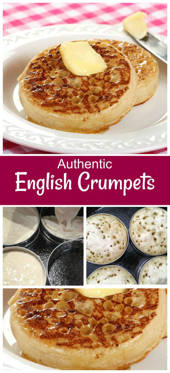 Authentic Traditional English Crumpets
