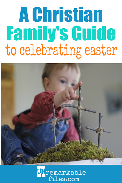 Christian parents often struggle to teach their kids about the real meaning of Easter. These family activities, traditions, and Christ-centered ideas will help you and your children celebrate Jesus and the resurrection all season long! #easter #christian