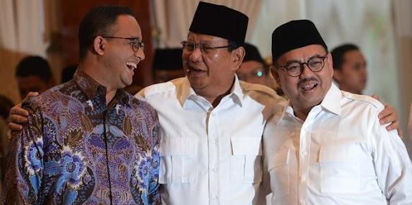 Prabowo: Anies Calon Wakil Presiden yang Serius
