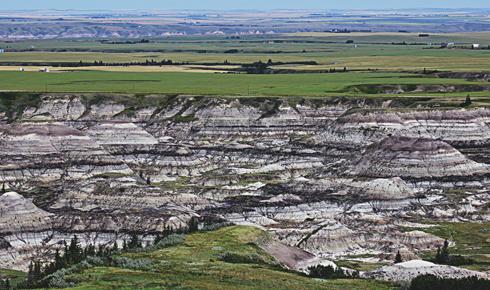 Aerial Photography Alberta Badlands