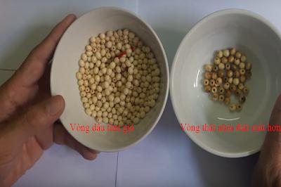 So sánh hạt thật và hạt giả
