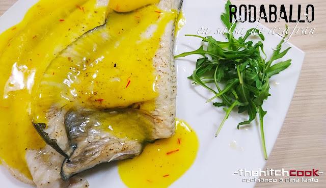 RODABALLO CON SALSA DE AZAFRÁN (Receta fácil de pescado)