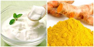 Làm trắng da đơn giản từ bột nghệ và sữa chua (tươi)