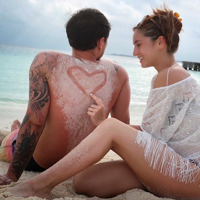 Coleen Garcia and Billy Crawford Maldives vacation photos