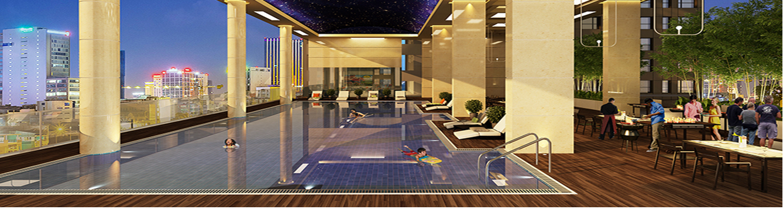 Bể bơi chung cư Imperial Plaza