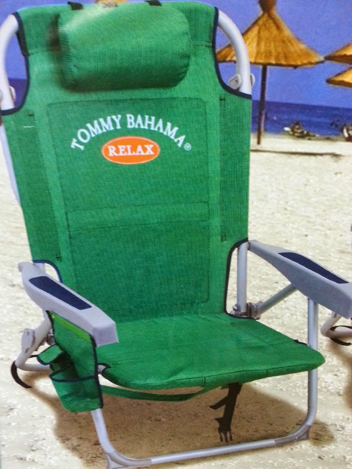 Tommy Bahama Cooler Chair Folding At Costco Cheap Beach Chairs 2014 Umbrella Green