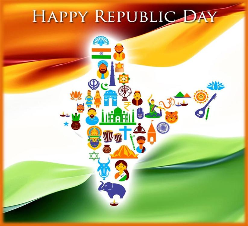 republic day images in drawing by student
