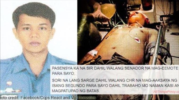 Reporter sa napatay na pulis sa Caloocan: Pasensya ka na dahil walang CHR, senador at media na dadalaw sayo
