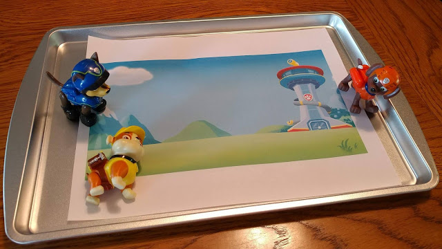 Printed Paw Patrol scene with dogs