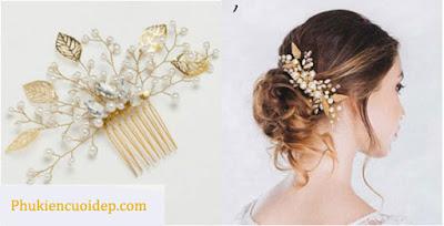 Mãn nhãn trước các mẫu cài tóc cô dâu bằng ngọc trai