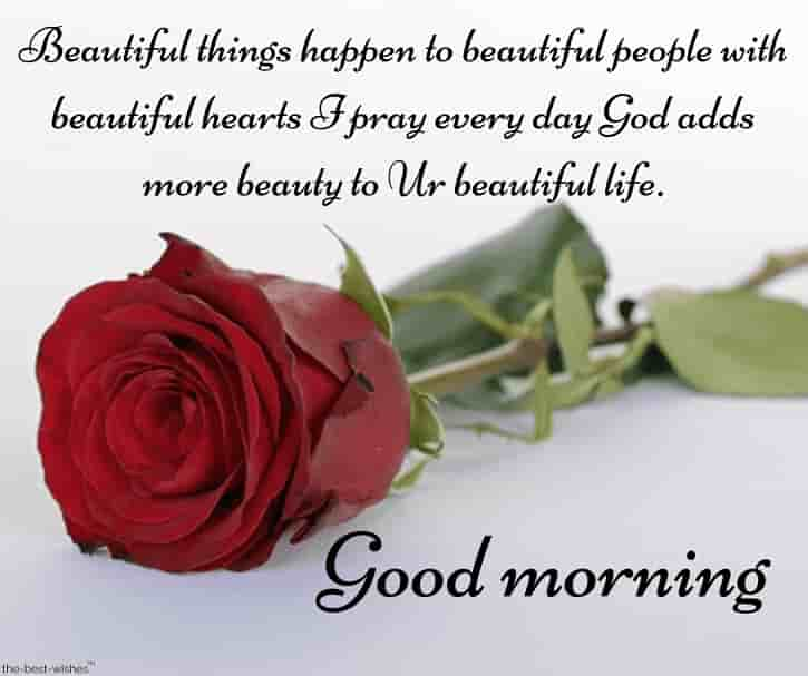 prayer good morning sms for love with red rose