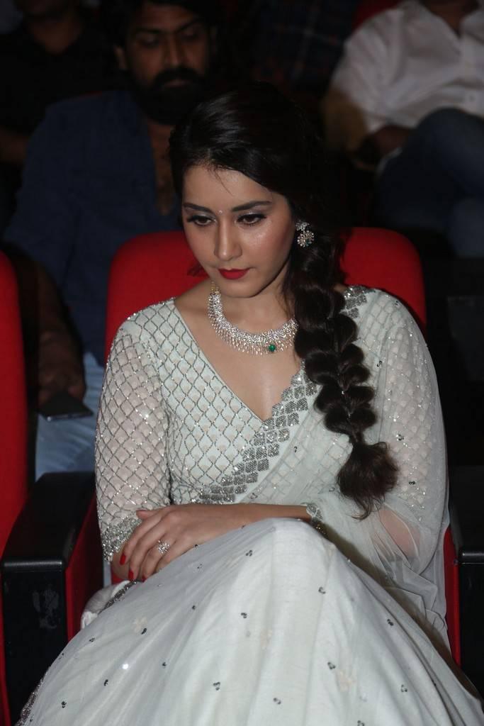 Raashi Khanna Deep navel In White Dress