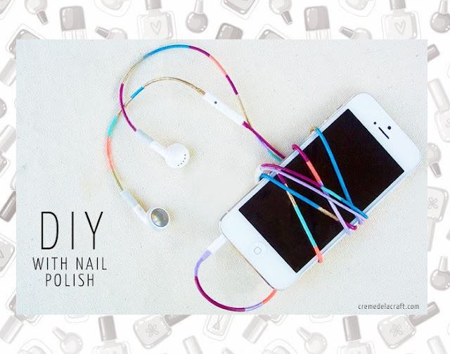 Fones de ouvido, esmalte, DIY