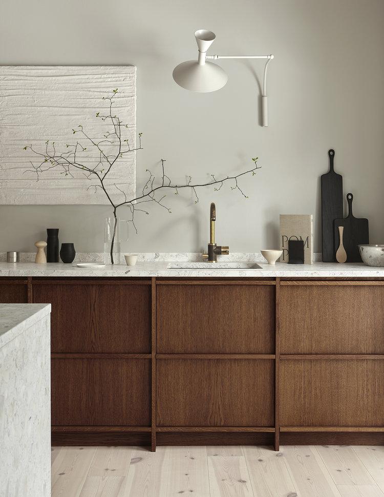 Cucina in legno e marmo terrazzo | ARC ART blog by Daniele Drigo
