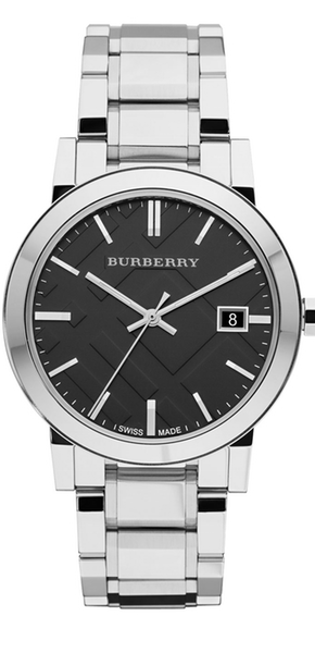 Burberry Check-Dial Stainless Steel Watch
