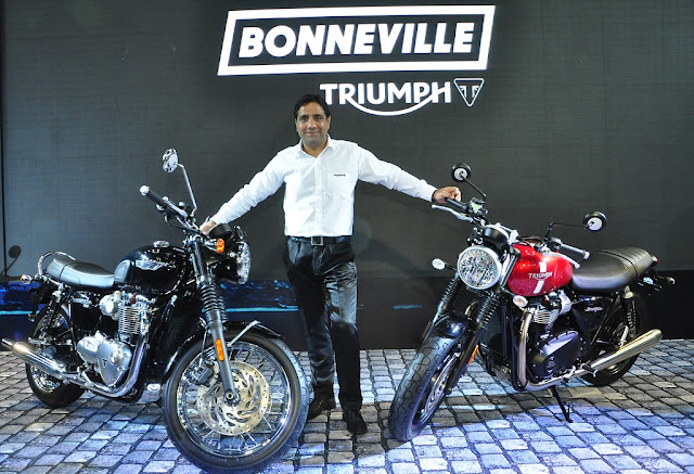 Bonneville Street Twin, T120 & Thruxton R at the Auto Expo 2016