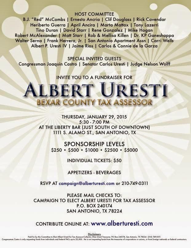 Walker Report - Shedding Light on Bexar County: Fundraiser ...