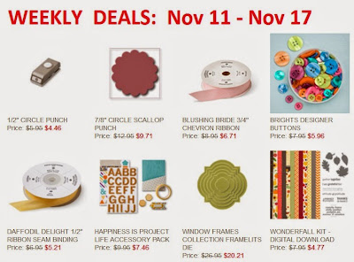 Stampin'UP!'s Sale of the Week Items for Nov 11