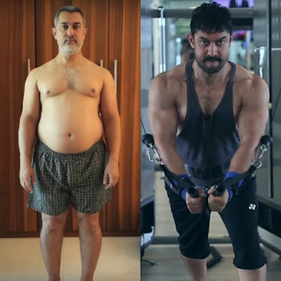 Aamir Khan Fat and Six pack fit