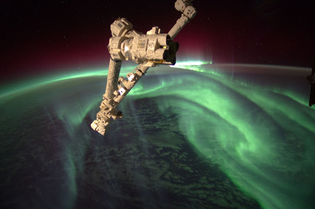 Aurora seen from the International Space Station