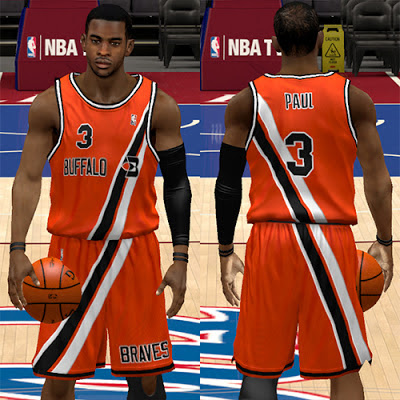 NBA 2K13 Buffalo Braves Orange Away Jersey Patch