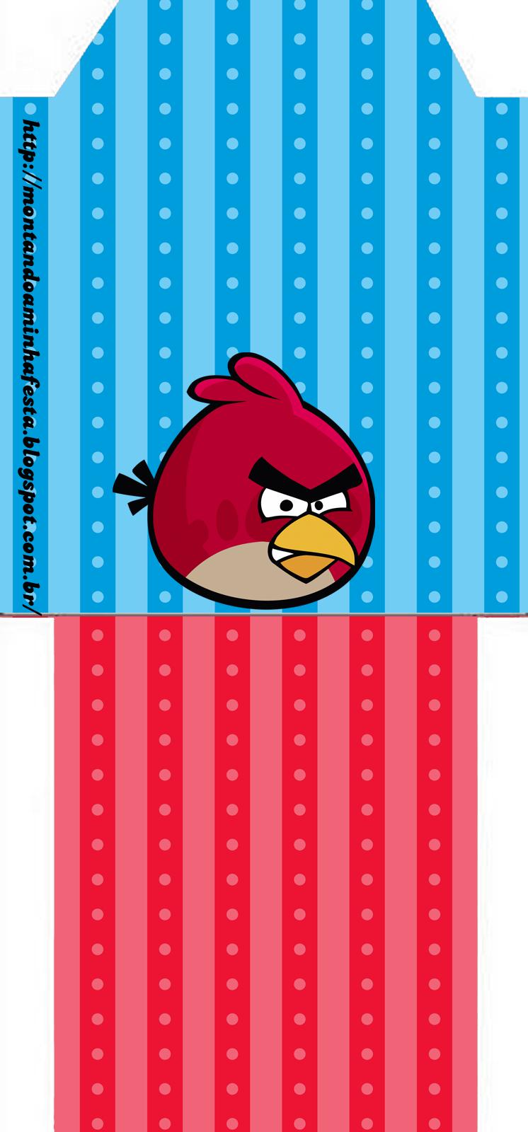 Bolsita de Té para imprimir gratis de Cumpleaños de Angry Birds.