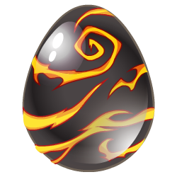 Das Erscheinen des Ei Heißmetall-Drache