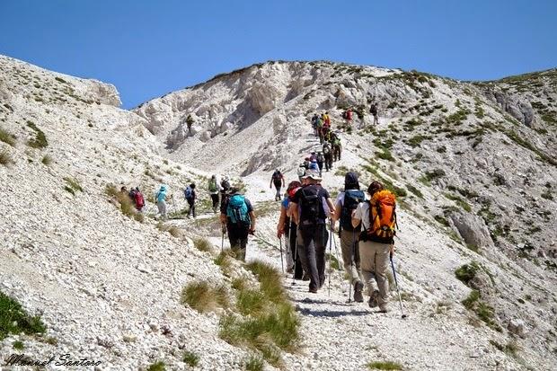Tratto iniziale del sentiero per monte Brancastello, Sentiero del Centenario