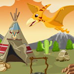 Games4King Cute Pterodactyl Rescue Walkthrough