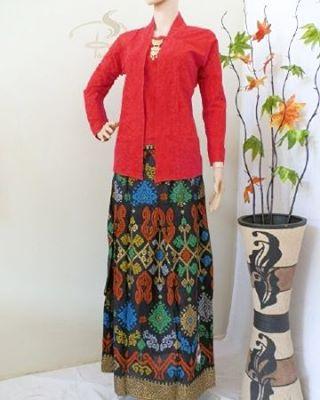 Rok dan Blouse Batik Ayunda Merah