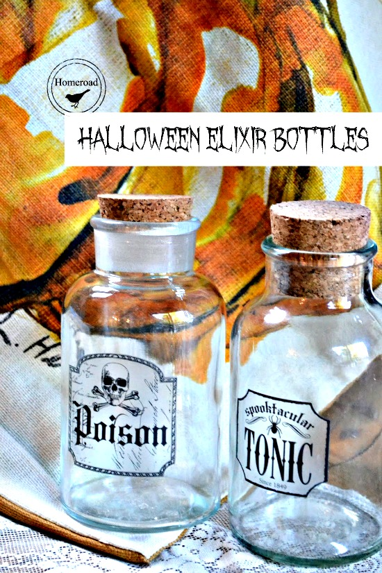 Fun and easy Elixir Bottles for Halloween