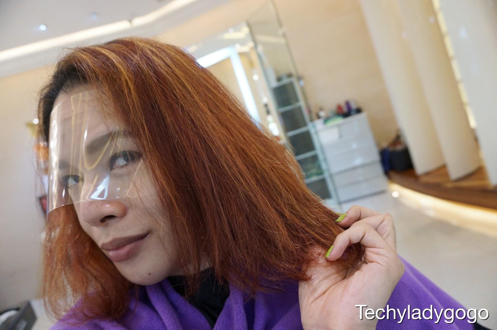 รีวิวร้านทำผม RUE ROYALE สาขาเซ็นทรัลปิ่นเกล้า ทำสีผมแดงอมม่วง Schwarzkopf IGORA และ ทรีทเมนท์ KERASTASE